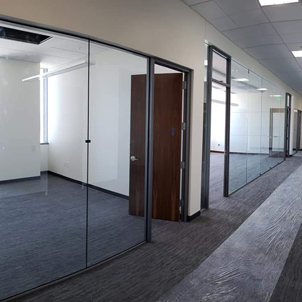 Glass Doors Installed in Office Building
